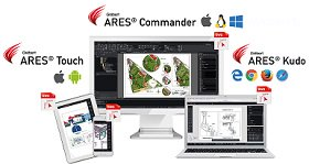 Ares Commander - 'Trinity of CAD' technology in ARES CAD solutions